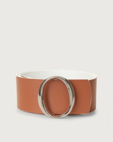 Piuma Double high-waist leather belt
