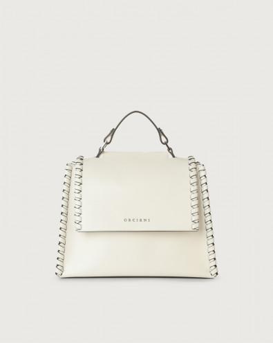 Sveva Liberty Mesh small leather handbag with strap