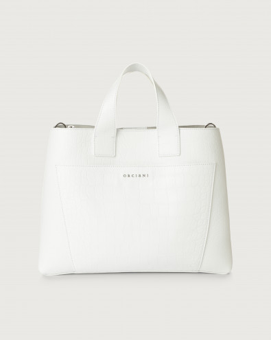 Nora Kindu large croc-effect leather handbag
