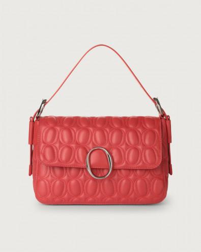 Soho Matelassé leather baguette bag with strap