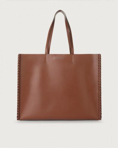 Le Sac Liberty Mesh large leather tote bag