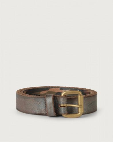 Jacket (i) long tip leather belt