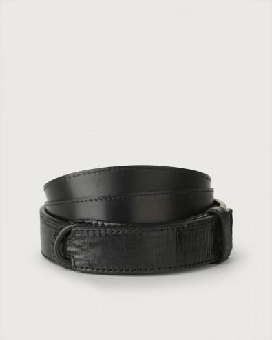 Cutting leather Nobuckle belt