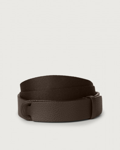 Micron leather and fabric Nobuckle belt