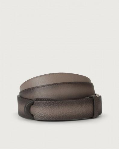 Micron Deep leather Nobuckle belt