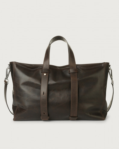 Artik leather weekender bag