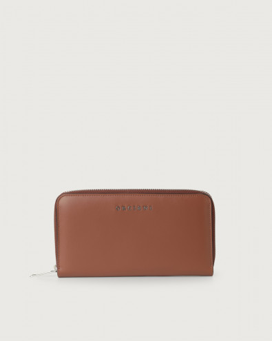 Liberty large leather wallet with zip
