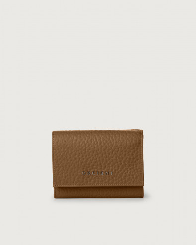 Soft small leather envelope wallet with RFID