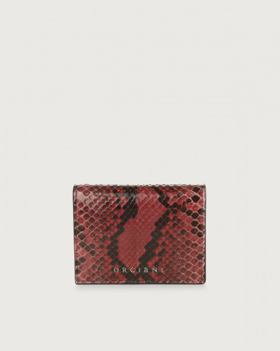 Diamond small python leather wallet