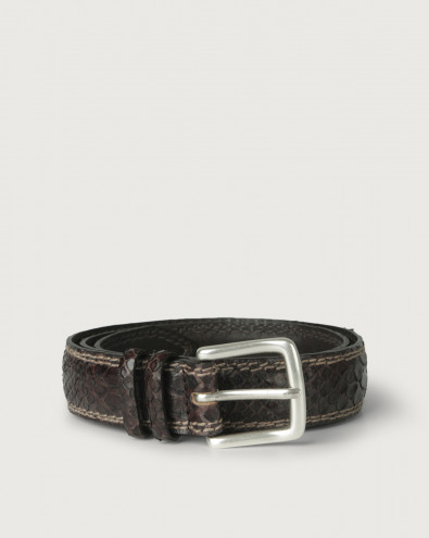 Salamanca python leather belt