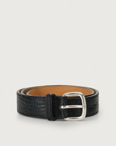 Cocco Fianco Opaco crocodile leather belt