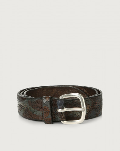 Peony leather belt
