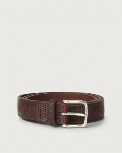 Bull Soft beehive pattern leather belt