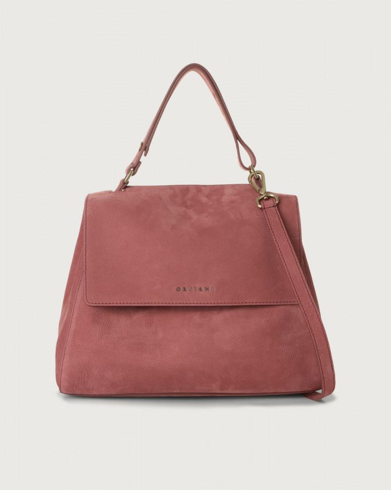 Sveva Alicante medium nabuck leather shoulder bag with strap