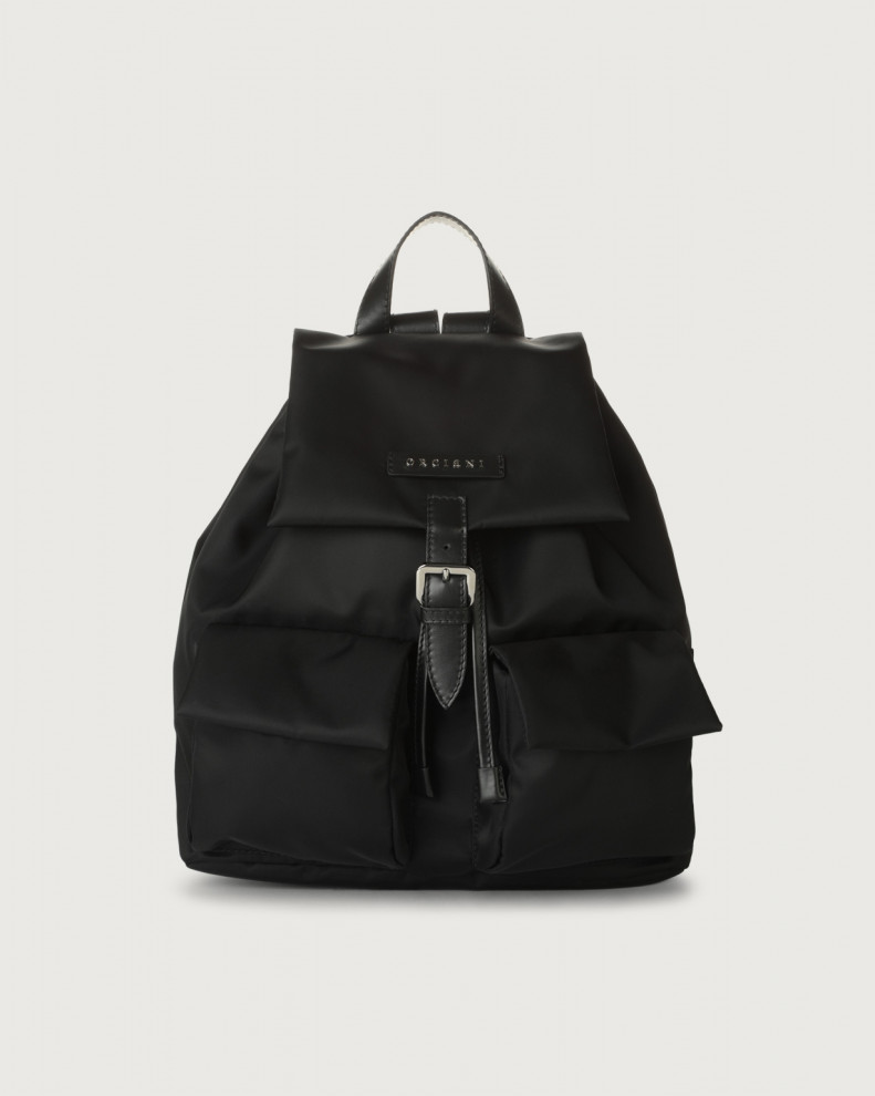 Charlotte Ecoline eco-nylon and leather backpack