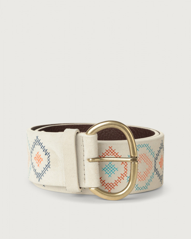Suede Cross high-waist suede belt
