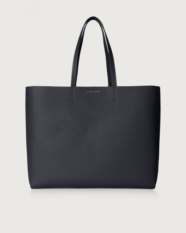 Orciani Le Sac Soft leather tote bag Leather Navy