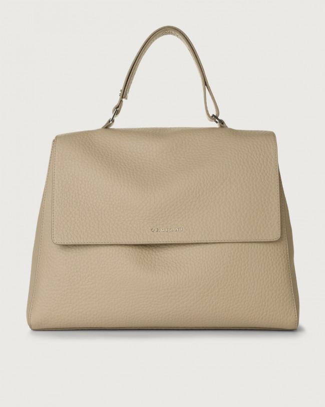 Orciani Sveva Soft large leather shoulder bag Leather Sand