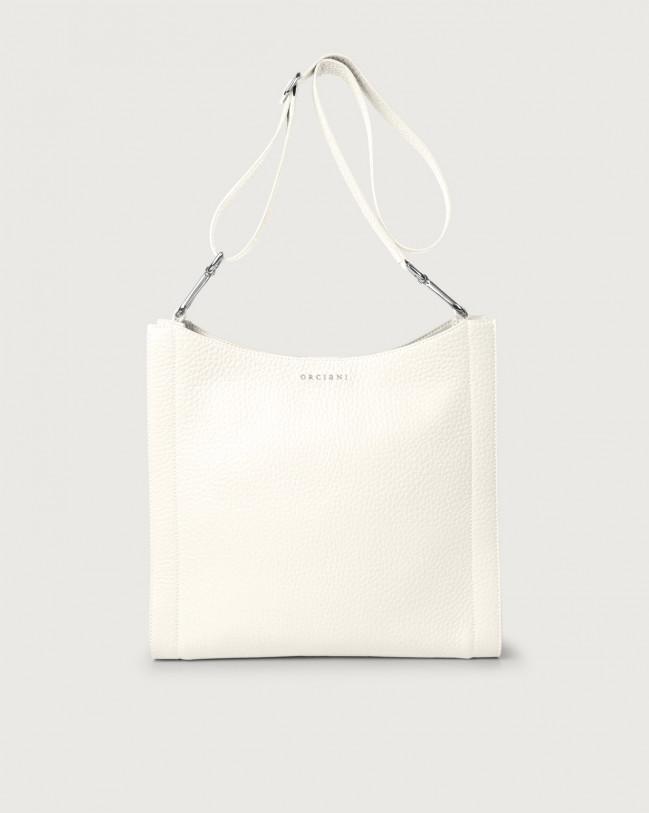 Orciani Iris Soft leather crossbody bag Leather White