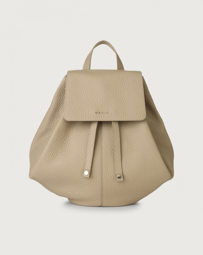 Orciani Iris Soft leather backpack Leather Sand