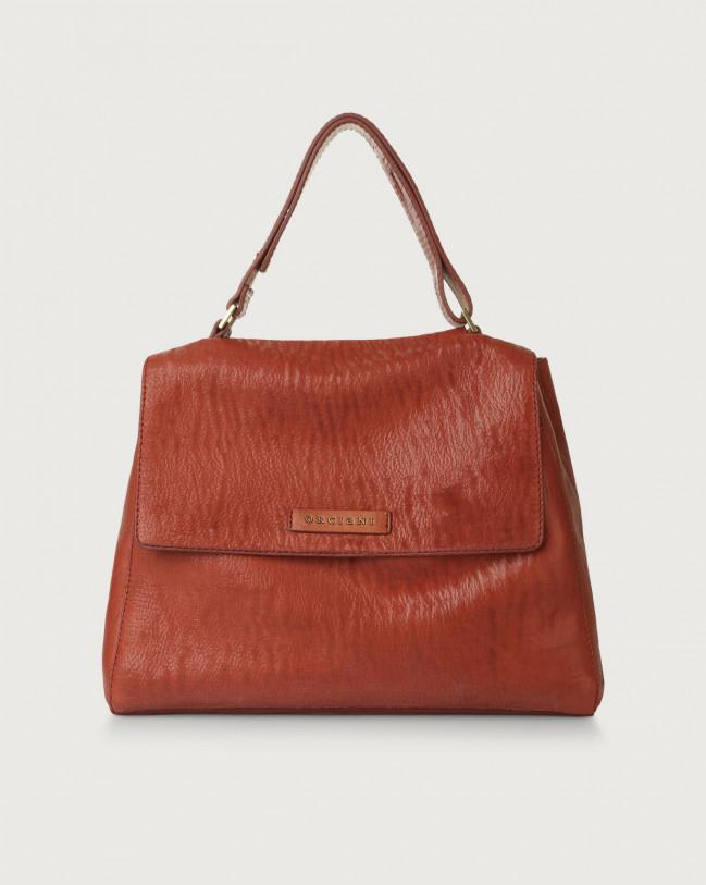 Orciani Sveva Cutting medium leather shoulder bag Leather Pink
