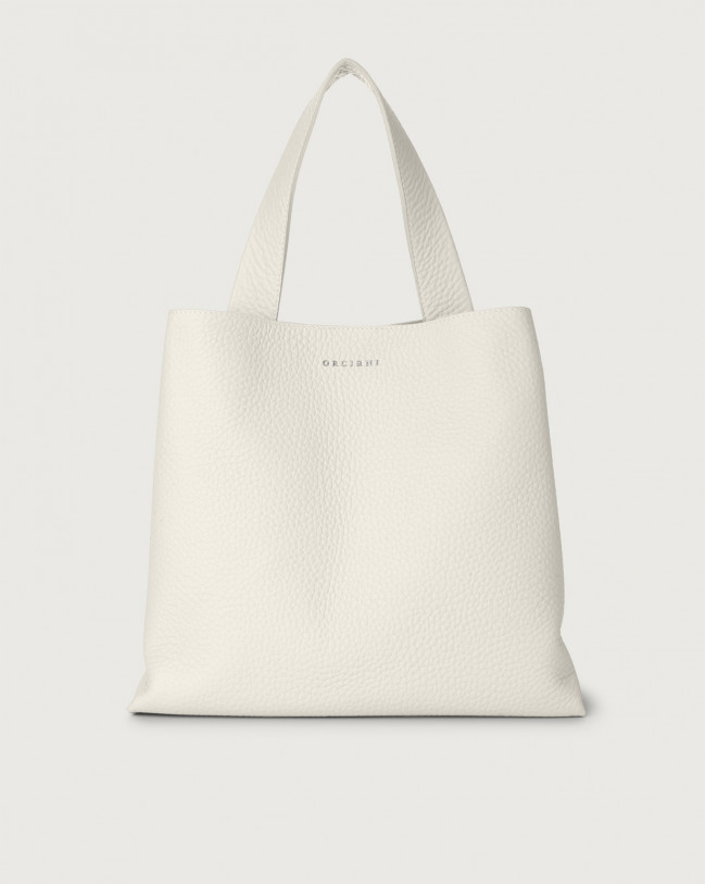 Orciani Jackie Soft leather shoulder bag Leather White