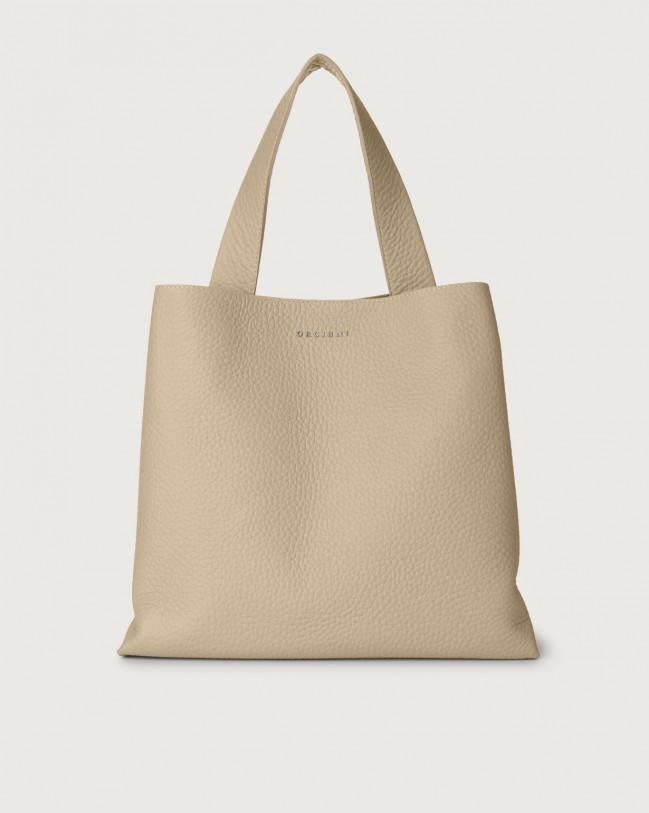 Orciani Jackie Soft leather shoulder bag Leather Sand