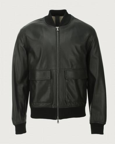 Nappa Nature leather bomber jacket