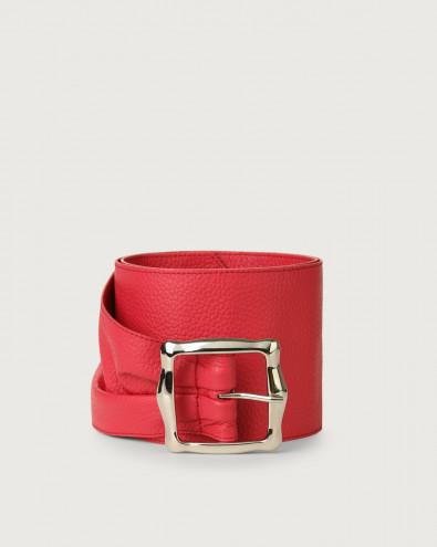 Micron leather sash belt