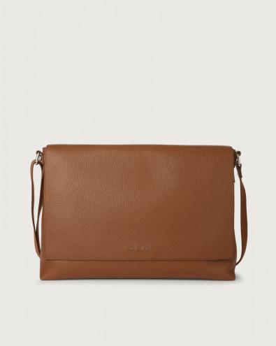 Micron leather messenger bag