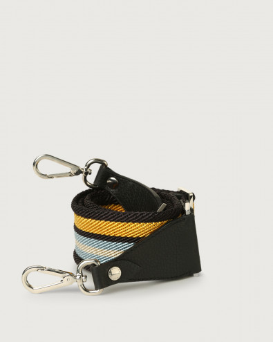Lane fabric and leather strap