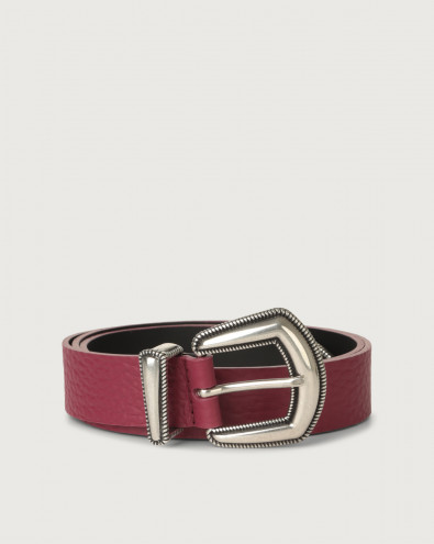 Soft western details leather belt