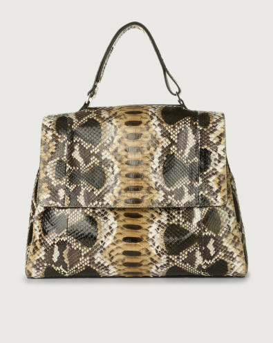Sveva Naponos large python leather shoulder bag with shoulder strap