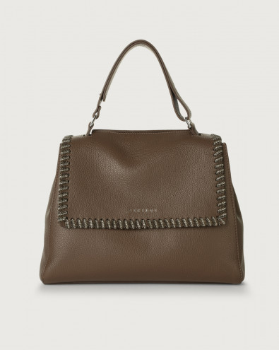 Sveva Chain medium leather shoulder bag with strap