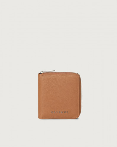 Micron small leather wallet with zip