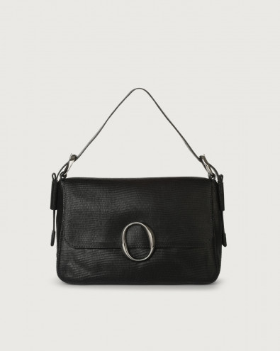 Soho Shadow leather baguette bag with strap