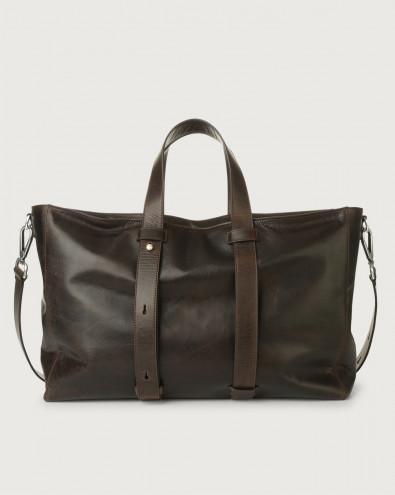 Artik leather weekender bag