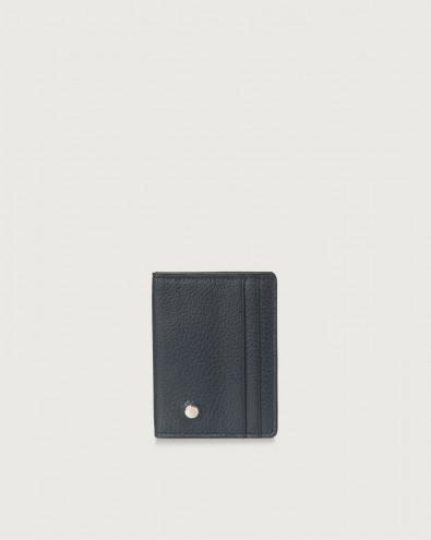 Micron hinge opening leather card holder