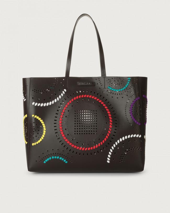 Orciani Le Sac Carioca leather tote bag Leather Brown