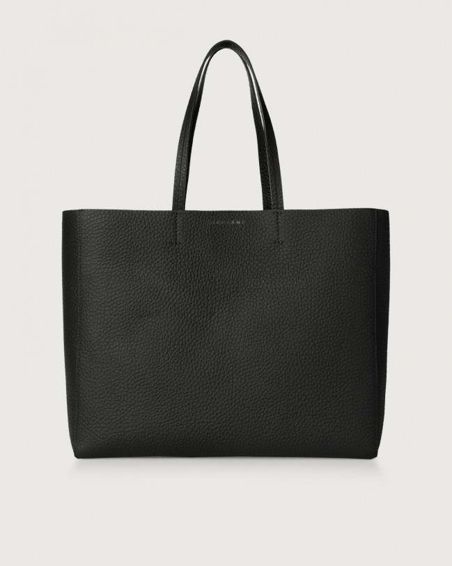 Orciani Le Sac Soft leather tote bag Leather Black
