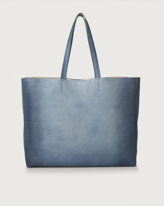 Orciani Le Sac Vanish One leather tote bag Leather Blue