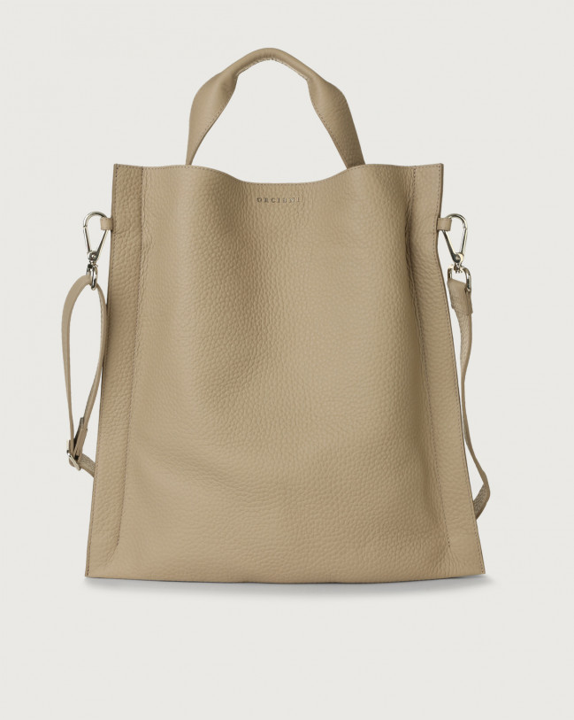 Orciani Iris Soft leather shoulder bag Leather Sand