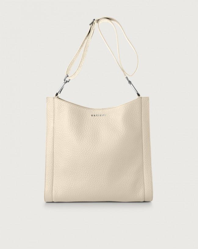 Orciani Iris Soft leather crossbody bag Leather Ivory
