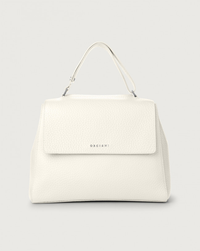 Orciani Sveva Soft medium leather shoulder bag Leather White