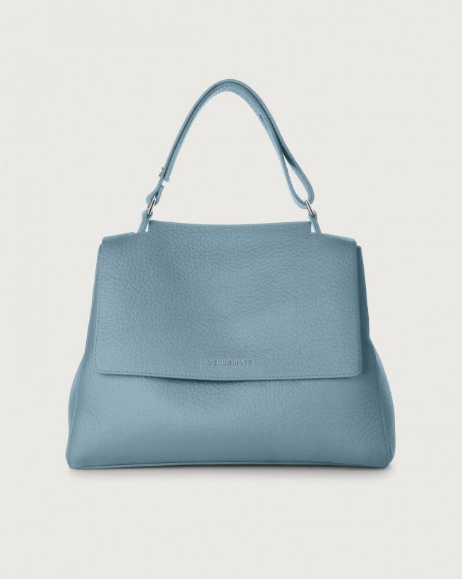 Orciani Sveva Soft medium leather shoulder bag Leather Light Blue