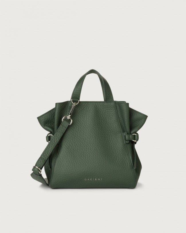 Orciani Fan Soft small leather handbag Leather Green