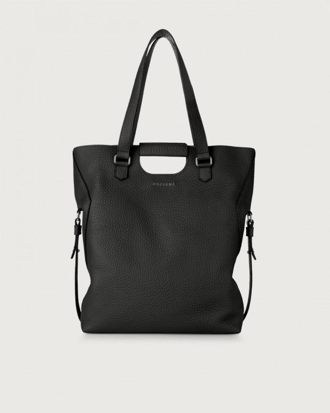 Orciani Isotta Soft large leather shoulder bag Leather Black