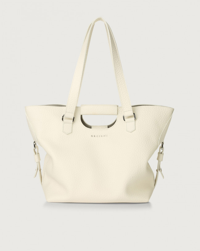 Orciani Isotta Soft leather shoulder bag Leather White