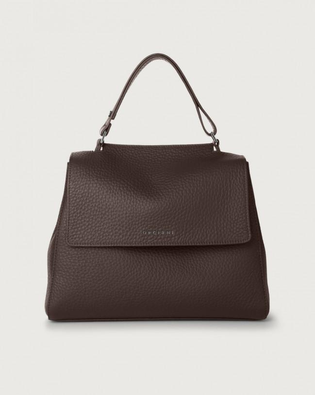 Orciani Sveva Soft medium leather shoulder bag with strap Leather Chocolate