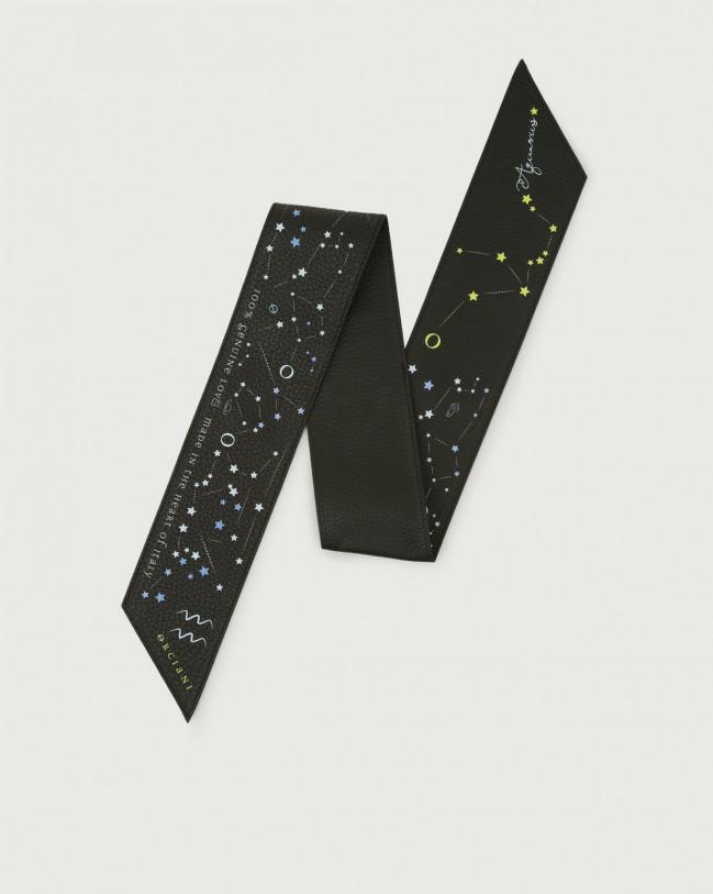 Orciani CosmoLova leather foulard Leather Acquarius